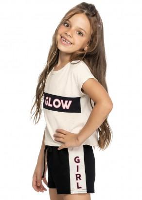 Conjunto Infantil Feminino Verão OffWhite Glow Elian