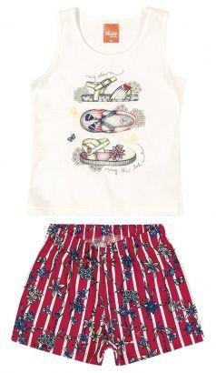 Conjunto Infantil Feminino Verão OffWhite Shoes Elian