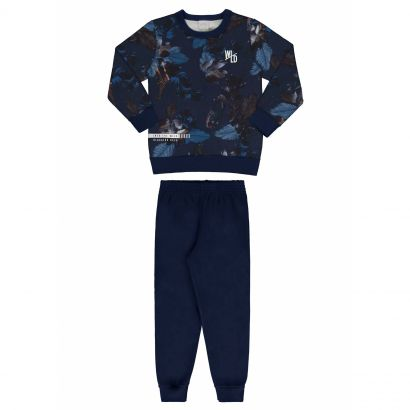 Conjunto Infantil Masculino Inverno Azul Wild Alakazoo