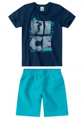 Conjunto Infantil Masculino Azul Marinho Nice - Malwee
