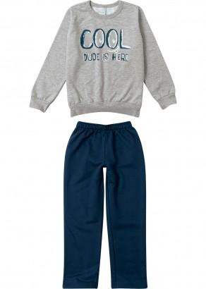 Conjunto Infantil Masculino Inverno Cool Cinza Malwee