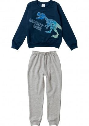 Conjunto Infantil Masculino Inverno Azul Rex Malwee
