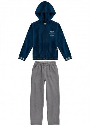 Conjunto Infantil Masculino Azul Malwee