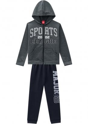 Conjunto Infantil Masculino Cinza Inverno Sports Kyly