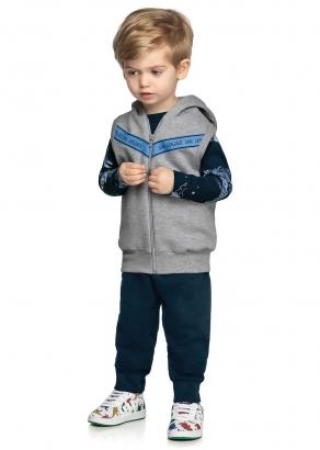 Conjunto Infantil Masculino Azul Dino Explorer - Elian