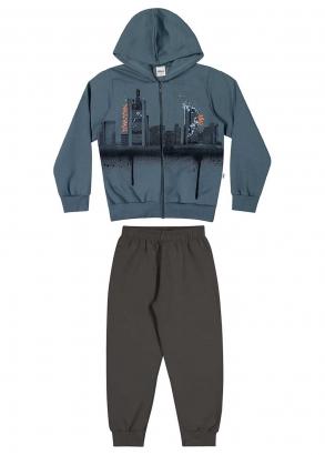 Conjunto Infantil Masculino Azul Downtown - Elian