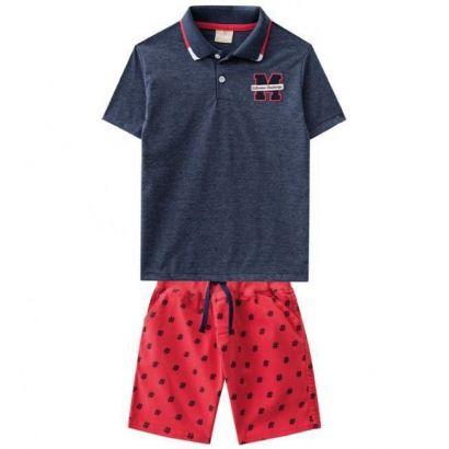 Conjunto Infantil Masculino Azul Marinho # Milon