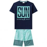 Conjunto Infantil Masculino Azul Marinho Sun Milon