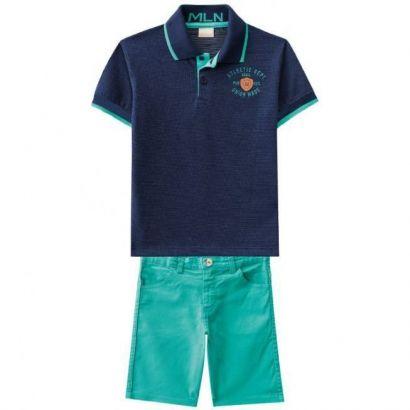 Conjunto Infantil Masculino Azul Marinho Union Milon