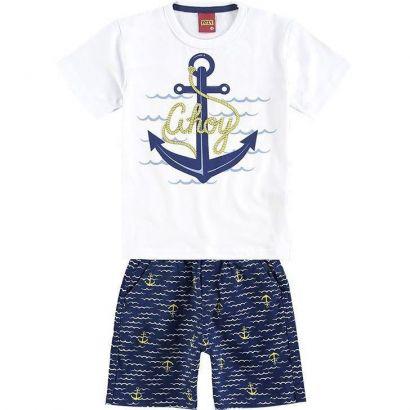 Conjunto Infantil Masculino Branco Ahoy Kyly