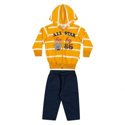 Conjunto Infantil Masculino Inverno Amarelo All Star Elian