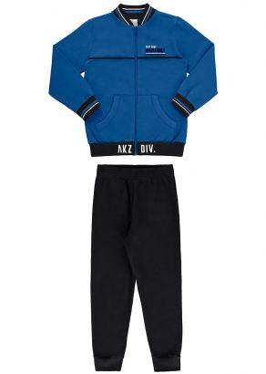 Conjunto Infantil Masculino Inverno Azul Army Alakazoo