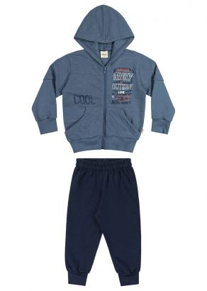Conjunto Infantil Masculino Inverno Azul Cool Elian