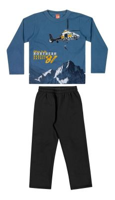 Conjunto Infantil Masculino Inverno Azul Exploring Elian