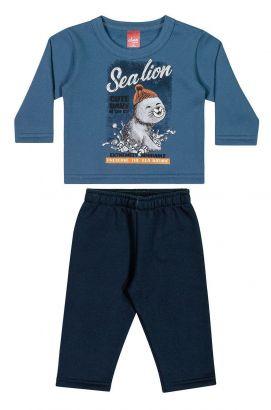 Conjunto Infantil Masculino Inverno Azul Sealion Elian
