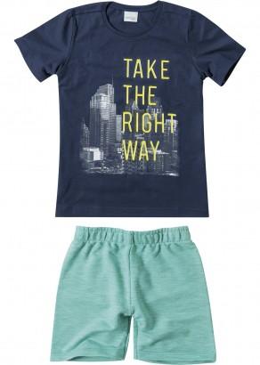 Conjunto Infantil Masculino Verão Azul Take Malwee