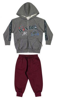 Conjunto Infantil Masculino Inverno Cinza Mescla Escuro Wander Elian