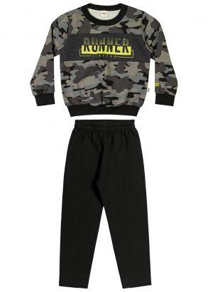 Conjunto Infantil Masculino Inverno Verde Militar Elian