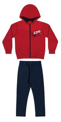 Conjunto Infantil Masculino Inverno Vermelho Jump Elian