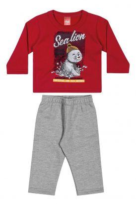 Conjunto Infantil Masculino Inverno Vermelho Sealion Elian