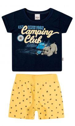 Conjunto Infantil Masculino Marinho Camping Elian