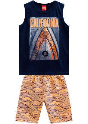 Conjunto Infantil Masculino Verão Marinho California Kyly