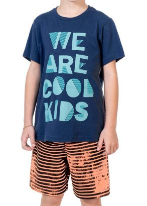 Conjunto Infantil Masculino Verão Marinho We Are Kids Club
