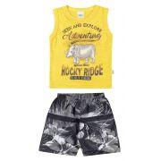 Conjunto Infantil Masculino Amarelo Adventure Elian