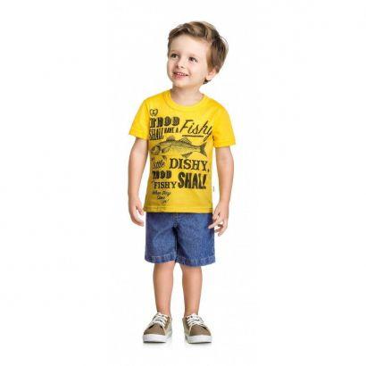 Conjunto Infantil Masculino Amarelo Fishy Elian