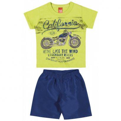 Conjunto Infantil Masculino Amarelo-Limão California Elian