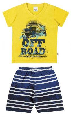 Conjunto Infantil Masculino Amarelo Off Road Elian