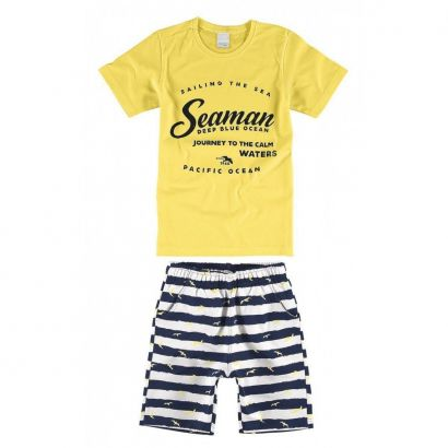 Conjunto Infantil Masculino Amarelo Seaman Malwee