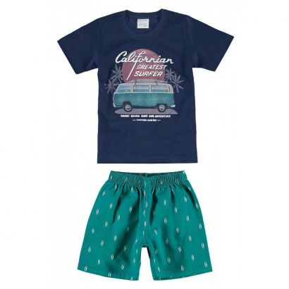 Conjunto Infantil Masculino Azul Marinho Californian Kombi Malwee