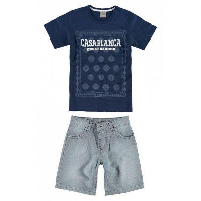 Conjunto Infantil Masculino Azul Marinho CasaBlanca Carinhoso