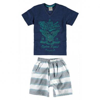 Conjunto Infantil Masculino Azul Marinho Eagles Carinhoso