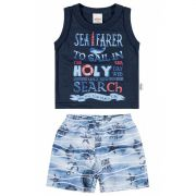 Conjunto Infantil Masculino Azul Marinho Sea Farer Elian