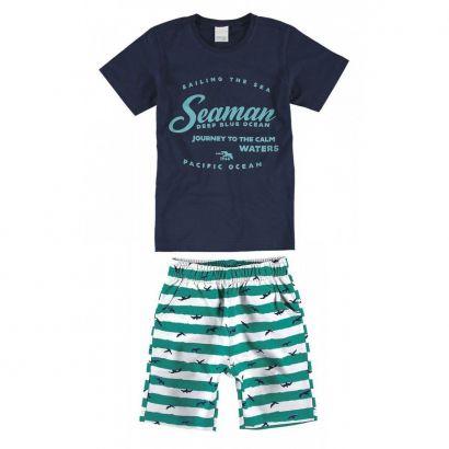 Conjunto Infantil Masculino Azul Marinho Seaman Malwee