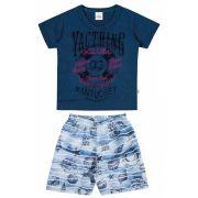 Conjunto Infantil Masculino Azul Marinho Yacthing Elian
