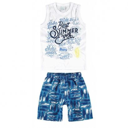 Conjunto Infantil Masculino Branco Best Summer Malwee