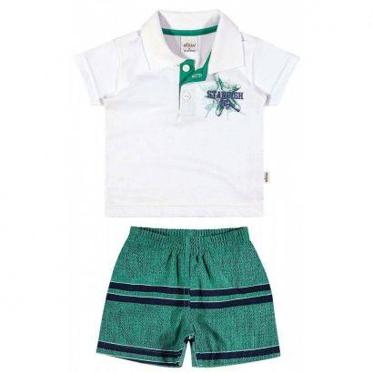 Conjunto Infantil Masculino Branco Starfish Elian