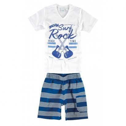 Conjunto Infantil Masculino Branco The Surf Rock Malwee