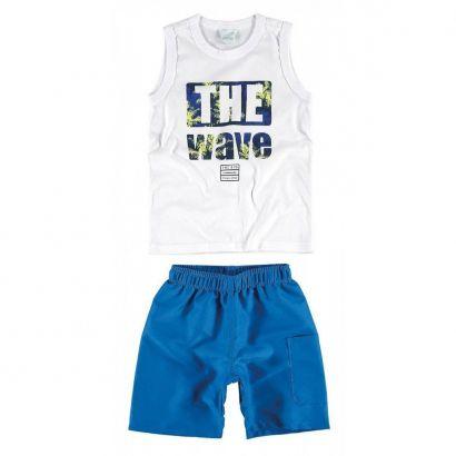 Conjunto Infantil Masculino Branco The Wave Malwee
