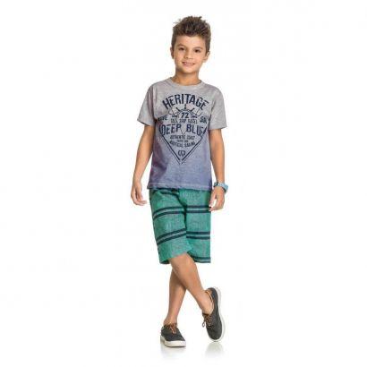 Conjunto Infantil Masculino Cinza Mescla Heritage Elian