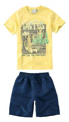 Conjunto Infantil Masculino Amarelo Cactus Malwee
