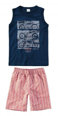 Conjunto Infantil Masculino Azul Marinho Moto Malwee