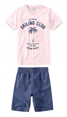 Conjunto Infantil Masculino Rosa Sailing Club Malwee