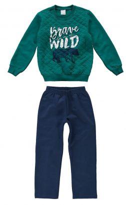 Conjunto Infantil Masculino Inverno Verde Brave Malwee