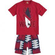 Conjunto Infantil Masculino Vermelho Wave Kyly