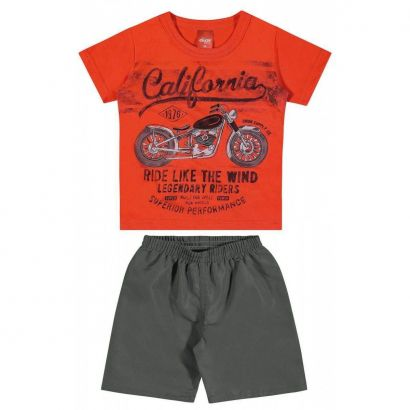 Conjunto Infantil Masculino Laranja California Elian