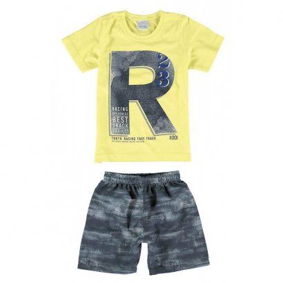 Conjunto Infantil Masculino Amarelo Racing Malwee